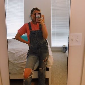 Urban Outfitters BDG ripped denim overalls small